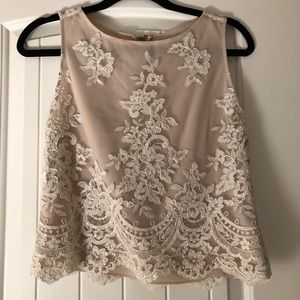 Alice and Olivia Lace Sequined Top XS